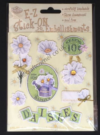Daisies & Friendship Glitter and Gem E-Z Stick-On Embellishments